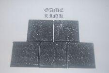 GRAVEL DESERT ASHWASTE , 40mm SQUARE PLASTIC RESIN BASE x 5