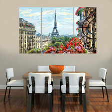 Canvas Prints Paris Eiffel Tower Unframed Picture Painting Wall Art Poster Decor