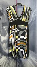 Retro Geometric Funky Print Tunic Dress Size 8 10