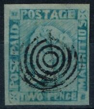 Mauritius 1854 2d Blue SG20 Pos 8 Worn Impression Fine Used 4 Large even Margins