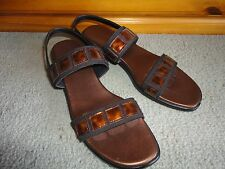 Quality Munro American Comfort Sandal Copper Black  Made in USA SIZE  8 N  EC
