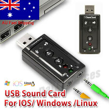 External USB Audio Sound Card Adapter 3D VIRTUAL 7.1CHANNEL PC LAPTOP WIN7 8 10