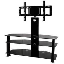 "32""-60"" inch Cantilever TV Stand Mount Bracket LCD LED Plasma Black Glass #UK"