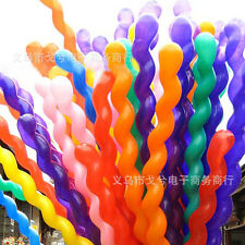 10 x Twist Spiral Giant Latex Balloons Wedding Birthday Party Decorations Toy