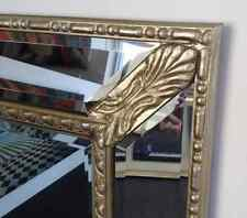 GOLD Large Bevelled Wall Mirror & Frame, Antique, Chic, 147 X 100CM DETAIL FRAME
