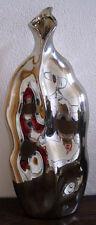 Vase silber glänzend XL 40 cm Bodenvase Geschenk Tischvase