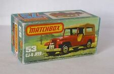Repro Box Matchbox Superfast Nr.53 CJ-6 Jeep