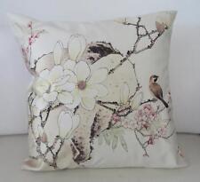 Hummingbird Magnolias Cherry Blossoms Faux Silk Cushion Cover 45cm Home Decor