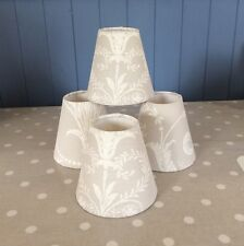 Handmade Candle Clip/wall Light Shade In Laura Ashley Fabric Josette Grey