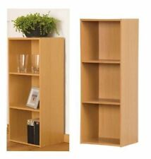 3 TIER WOODEN BOOKCASE SHELVES SHELF STORAGE CABINET STAND UNIT IN NATURAL BEACH