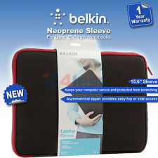 """Belkin 15.6"""" Laptop Notebook Protective Sleeve Cover Jet/Cabernet F8N160eaBR NEW"""