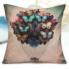 Western style Cotton Butterfly Balloon Sofa Throw Pillow Case Cushion Cover YXF