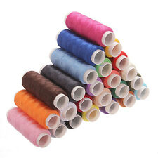 24 Rolls Assorted Colour Spools Finest Quality Cotton Thread For Machine New