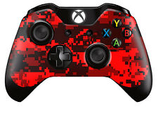 Xbox One Controller/Gamepad Skin / Cover / Wrap - Red Digital Camouflage