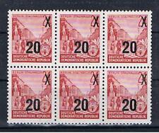 DDR MiNr. 439 bII 6er-Einheit aus Bogen Viererblock Paare postfrisch