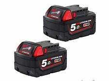 2xNEW GENUINE MILWAUKEE 18V CORDLESS M18B5 5.0 AMP Lithium-ion BATTERY  NO BOX