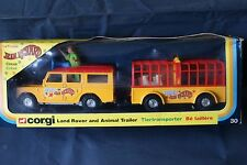 Corgi GS 30 Land Rover & Animal Trailer - Pinder Circus  Issued 1978  Made In GB