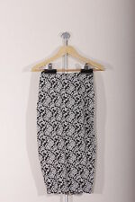 Womens Skirt Charcoal with White Jan Floral Size S Rock & Rags Firetrap RRP  £25