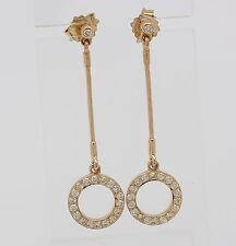 Ohrringe in aus 750er 18 kt Gelb Gold mit Diamant Brillant Brillanten Ohrstecker