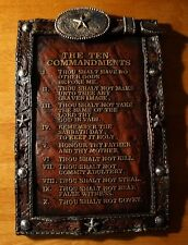 COWBOY TEN COMMANDMENTS Western Rustic Country Primitive Style Home Decor Sign