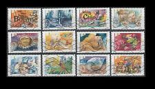 "France The 5 senses ""Hearing"" (12 USED STAMPS)"