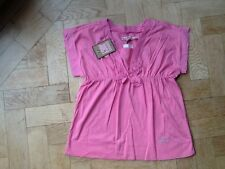 NWT Juicy Couture New & Genuine Girls Age 8 Pink Cotton Top With Juicy Logo
