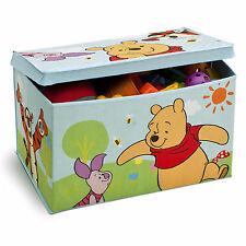 DELTA CHILDREN DISNEY WINNIE THE POOH COLLAPSIBLE FABRIC TOY BOX NURSERY TOYBOX