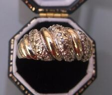 Women's 9ct Gold Diamond Ring Stamped Weight 3.4g Ring Size Q