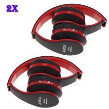 2x Faltbare Bass Bluetooth 3.0 Stereo Kopfhörer Headset für iPhone Samsung P2PD