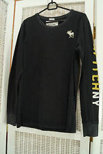 ABERCROMBIE & FITCH Muscle Shirt Long Sleeves Moose Logo Branded Sleeve Size S
