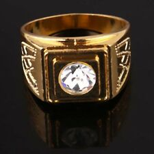 Men New 14k Gold Filled Austrian crystals fashion Size 10.75 Ring jewelry A878