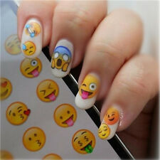 1 Sheet Nail Art Water Transfer Decal Manicure Decor Various Expression DIY
