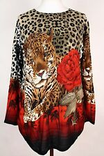 NEW WOMEN  TUNIC size  16/18  TOP LONG SLEEVE SEQUINS BLOUSE  LADIES  a 2955