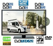 "LENCO 24"" 61cm Full HD LED TV 12Volt  DVB-C-S2-T2 HD DVD-Player Camping Boot 12V"