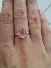 585 Goldring Rose Rosegold Rotgold Rosenquartz, Größe 54, 17 Stein 14 k Karat