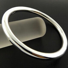 A795 GENUINE REAL 925 STERLING SILVER S/F SOLID LADIES CUFF BANGLE BRACELET