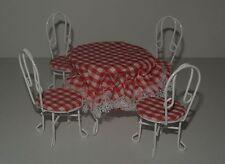 Tisch mit 4 Stühle , Puppenstuben , 1:12