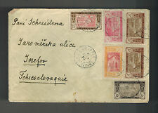 1930 Bouafle Ivory Coast cover to Czechoslovakia AOF Airmail