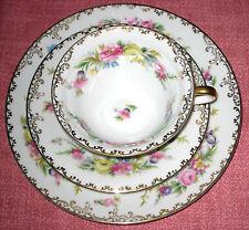 Rosenthal Bavaria Porzellan Sammeltasse mit Blumen Motiv und Goldrand