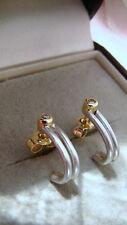 Platin Brillant Halb Creolen 950 Platin und 750 Gold-220 EURO