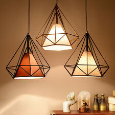 Modern Industrial Style Metal Wire Frame Ceiling Light Shades Diamond Cage Decor