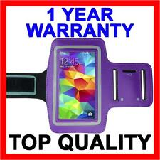 PURPLE Sports Gym Armband Arm Band Running Case for Samsung Galaxy S5 S4 S3 S2