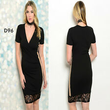 D96 Womens Size 20/22 Black Cocktail Evening Summer Beach Sexy Lace Dress Plus