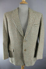 VINTAGE 1960's BURTON HANDWOVEN PURE WOOL CHECKED HARRIS TWEED JACKET 40 INCH