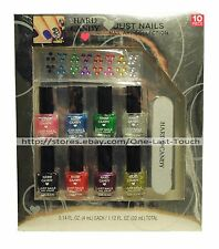 HARD CANDY 10pc Nail Art Set/Kit JUST NAILS Collection POLISH/COLOR+FILE+JEWELS