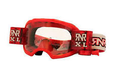 Motocross ripnroll colossus xl loaded red roll off goggles & 2 roll off films