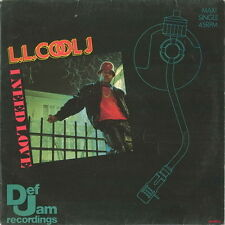 "12"" Maxi L.L. Cool J I Need Love / My Rhyme Anin`t Done 80`s Def Jam"