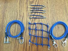 BLUE/Roof Cargo Net + 2 Tow Ropes +6 Bungee Cords SCX10.TrailFinder