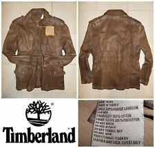 Men's TIMBERLAND SLUGGO 100% Lambskin Leather Jacket Coat Brown Field S RRP£545