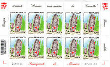 FEUILLE ENTIERE TIMBRES MONACO - N° 2736.